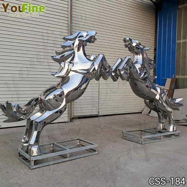 Metal Art Stainless Steel Horse Sculpture