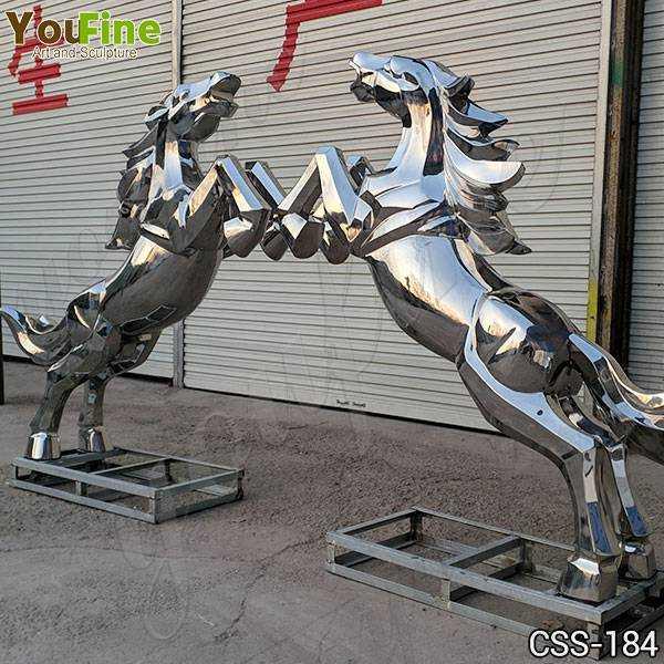 Metal Art Stainless Steel Horse Sculpture Factory Supply