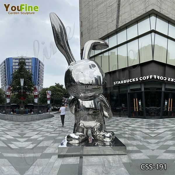 Modern Large Garden Stainless Steel Rabbit Sculpture Suppliers