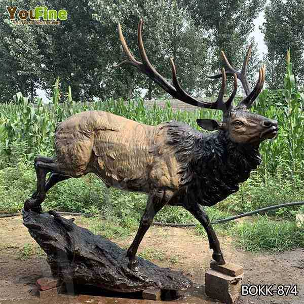 Newly Designed Large Bronze Animal Elk Statue for Decor Wholesale BOKK-874