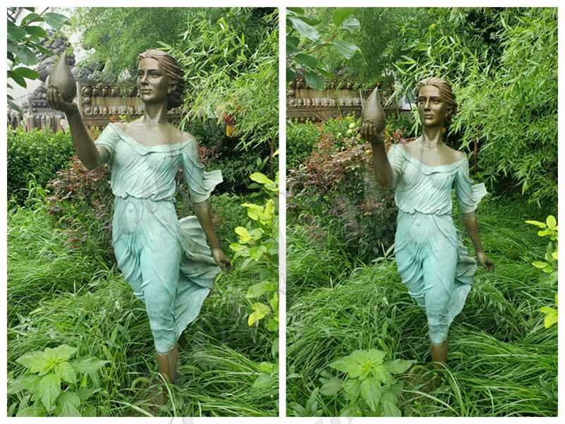 Outdoor Bronze Lady Sculpture for Sale