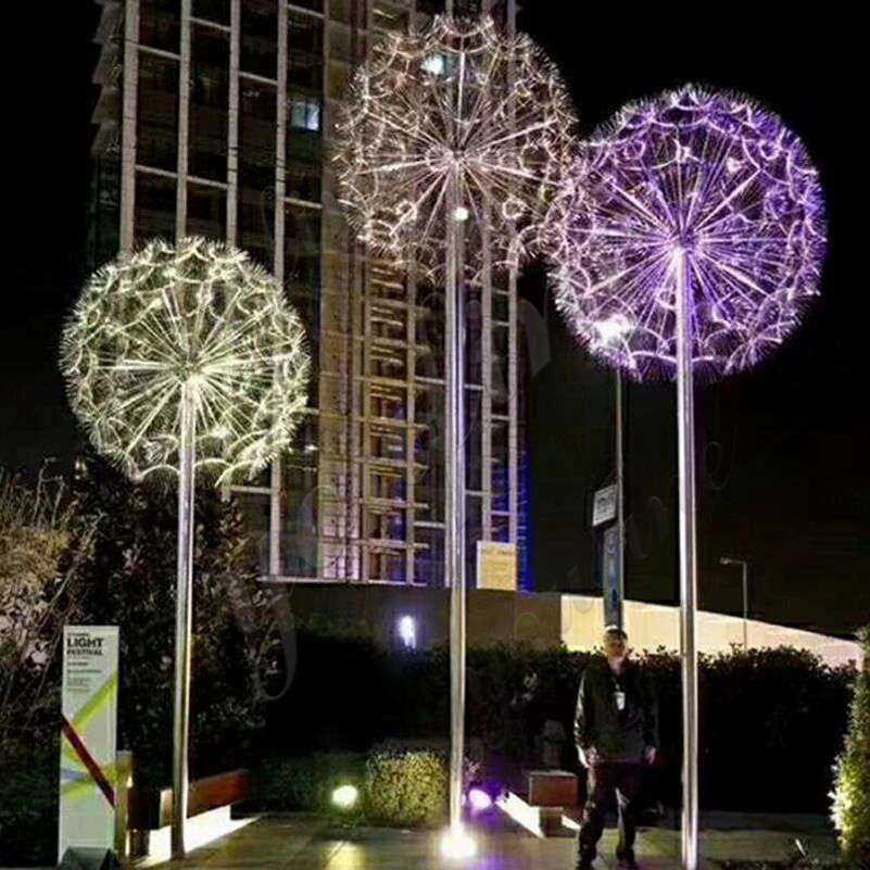 Outdoor Stainless Steel Dandelion Garden Sculpture Manufacturers