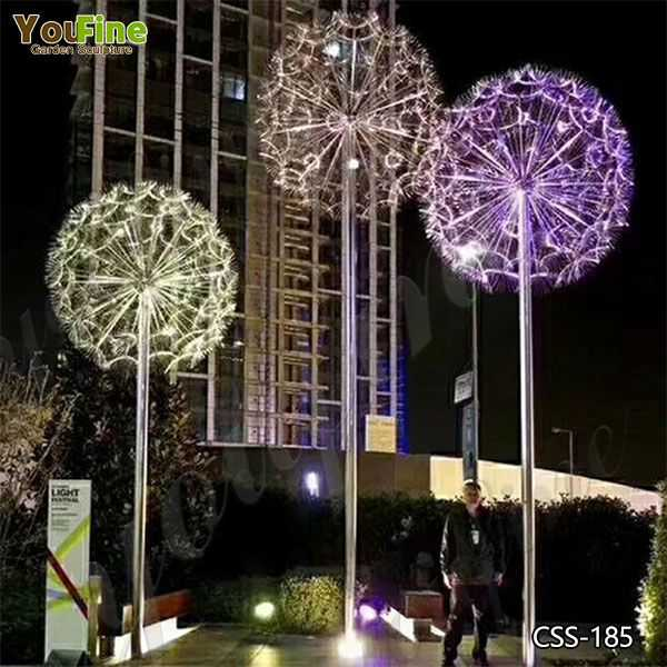 Outdoor Stainless Steel Dandelion Sculpture