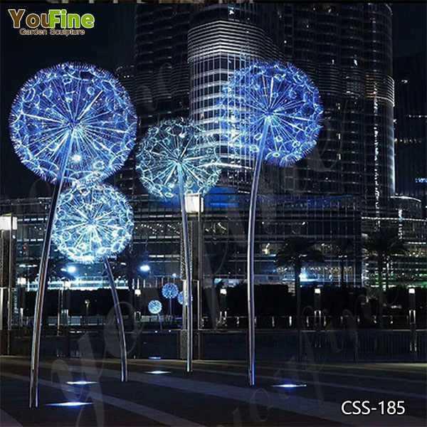 Stainless Steel Dandelion Garden Sculpture Manufacturers