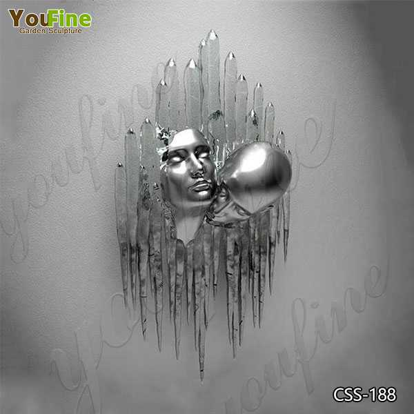Modern Wall Decorative Stainless Steel Man Sculpture Suppliers CSS-188