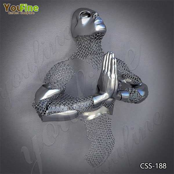 Wall Decorative Stainless Steel Man Sculpture Suppliers