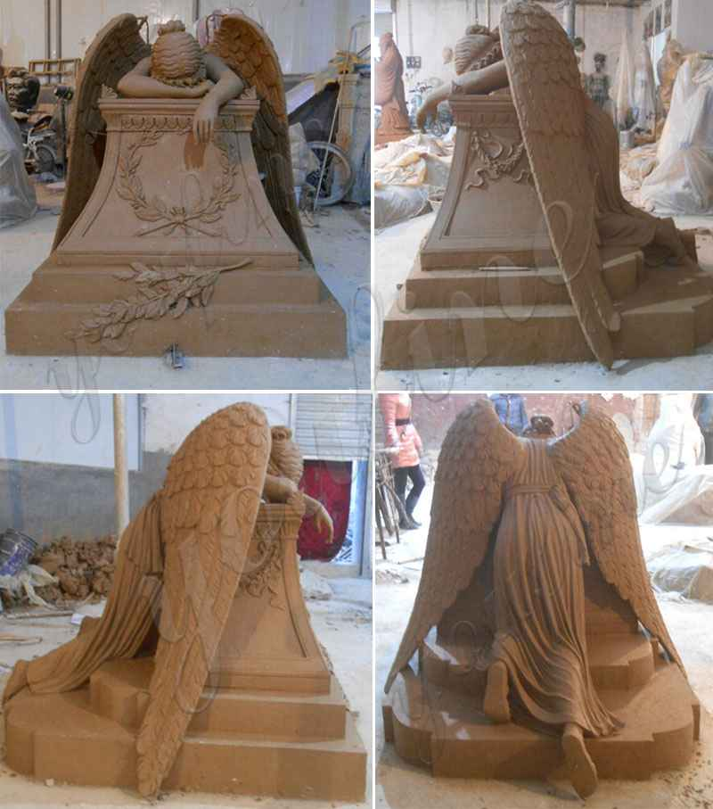 Weeping Angel Monument Headstone Angel Statues