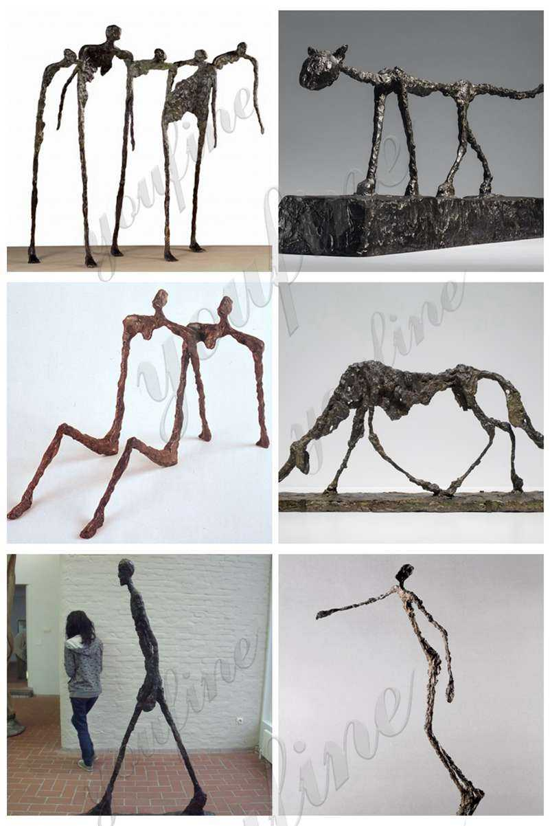 Work Bronze Walking Man Sculpture