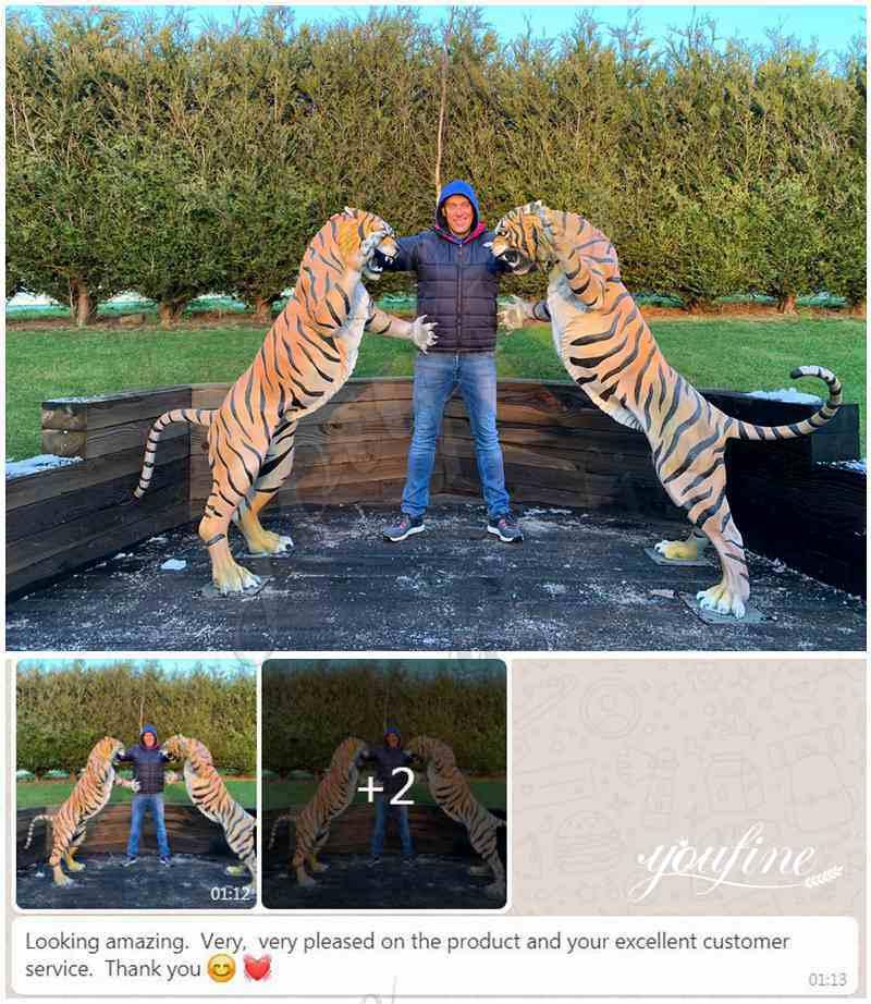 bronze tiger statue client feedback
