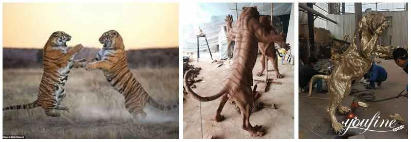 bronze tiger statue process
