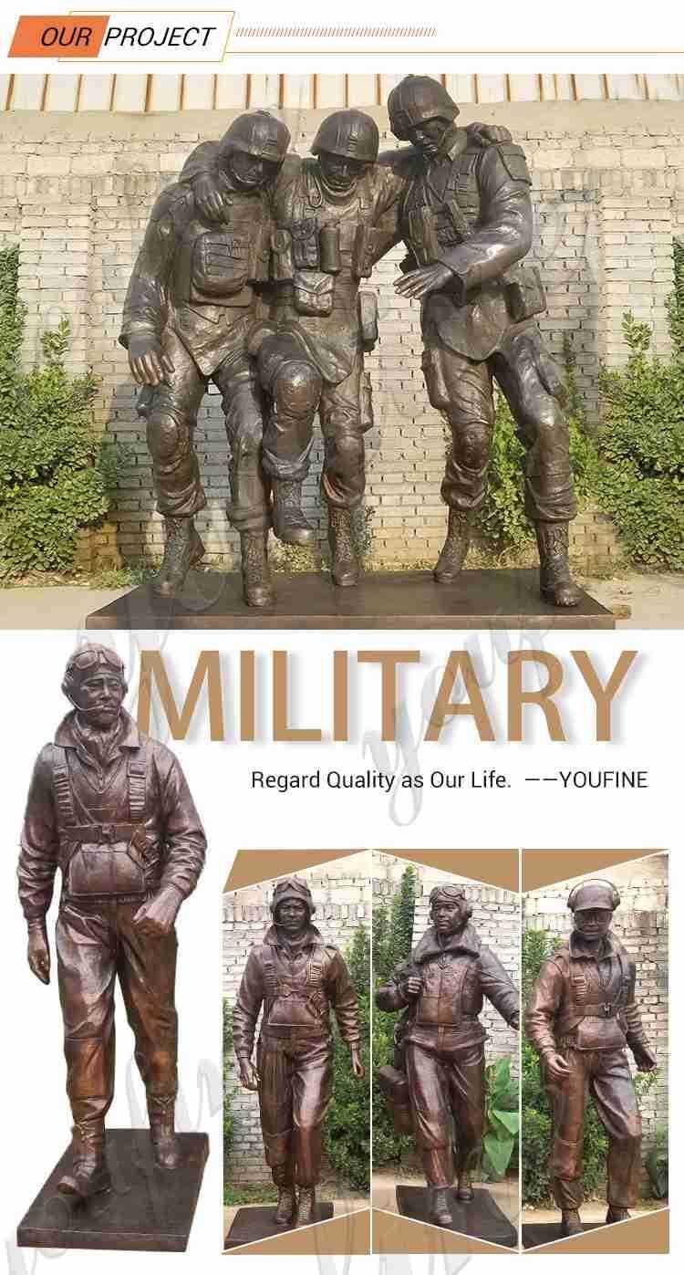kneeling soldier garden statue