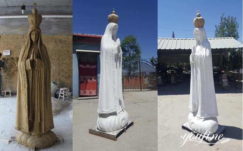 marble Fatima statue for sale
