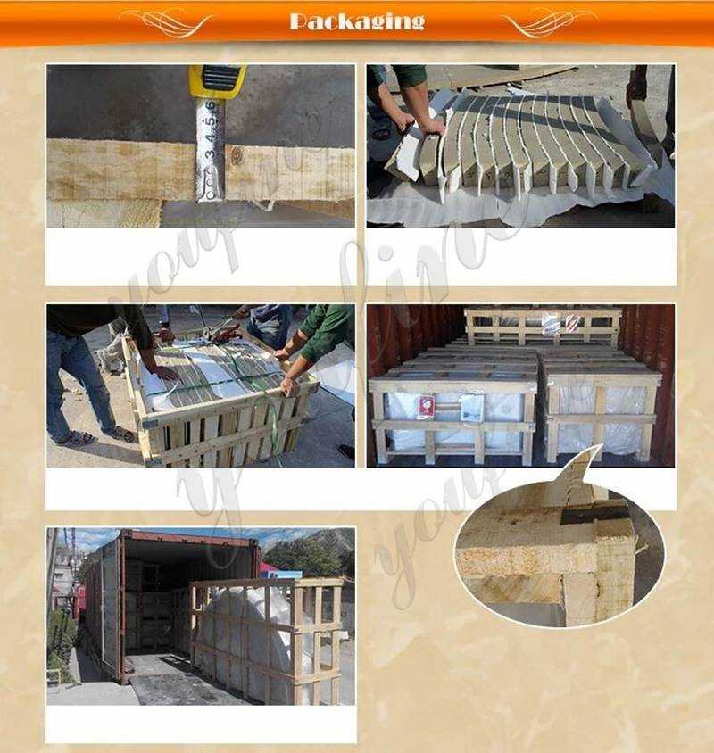 package of Solid Marble Column Pedestal