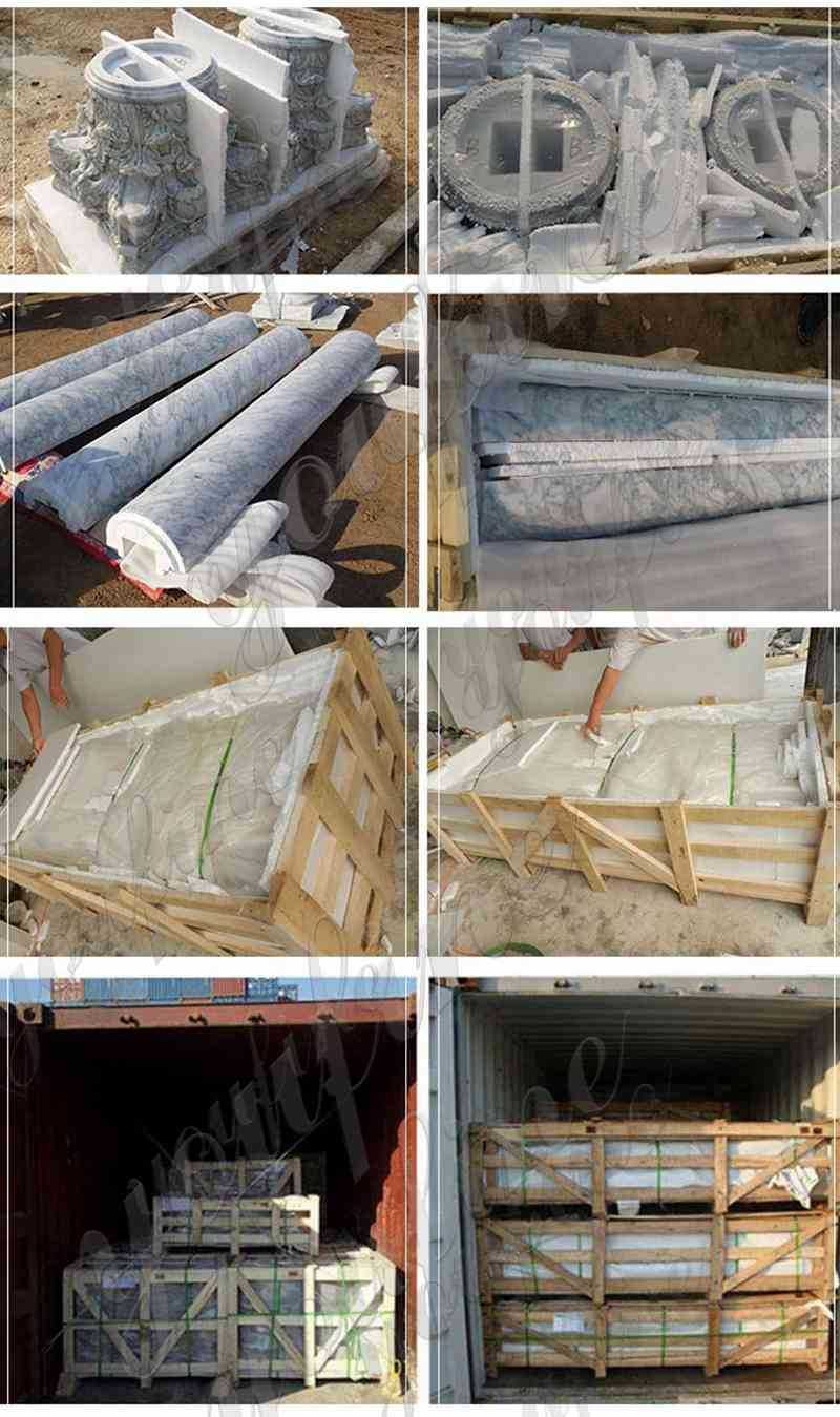 packing of Outdoor Beige Stone Gazebo Pavilion