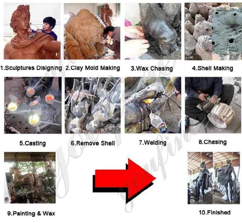 process of ng eng teng wealth sculpture