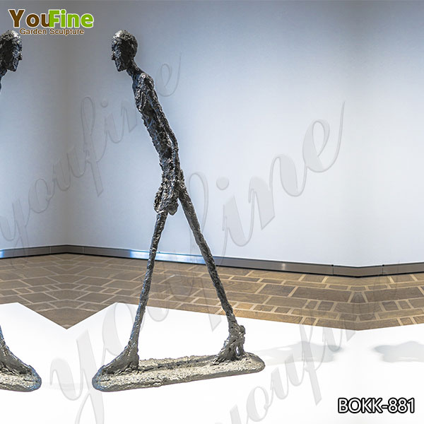 Abstract Bronze Walking Man Sculpture