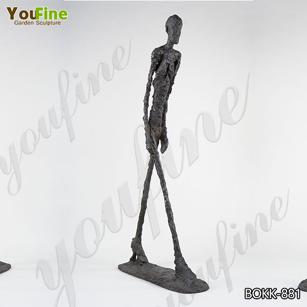 Abstract Giacometti's Bronze Walking Man Sculpture for Sale