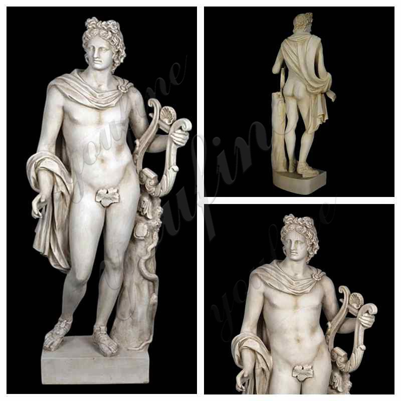 Apollo with Lyre life size Statue details
