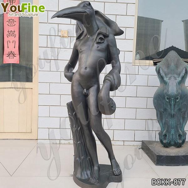 Bronze Birdman Sculpture by Salvador Dali on Sale