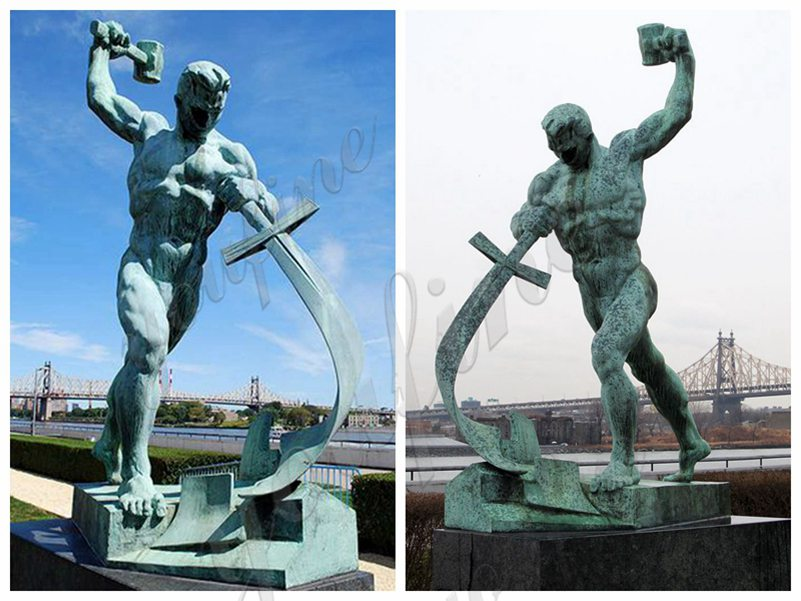 Bronze Swords to Ploughshares Statue