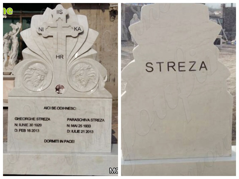 Cross marble memorial grave for sale