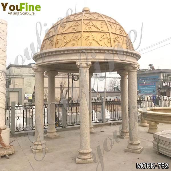 Customized Sandstone Gazebo Garden Decoration China Supplier MOKK-752