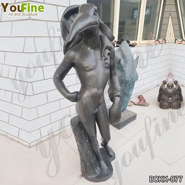 Famous Life Size Bronze Birdman Sculpture by Salvador Dali on Sale