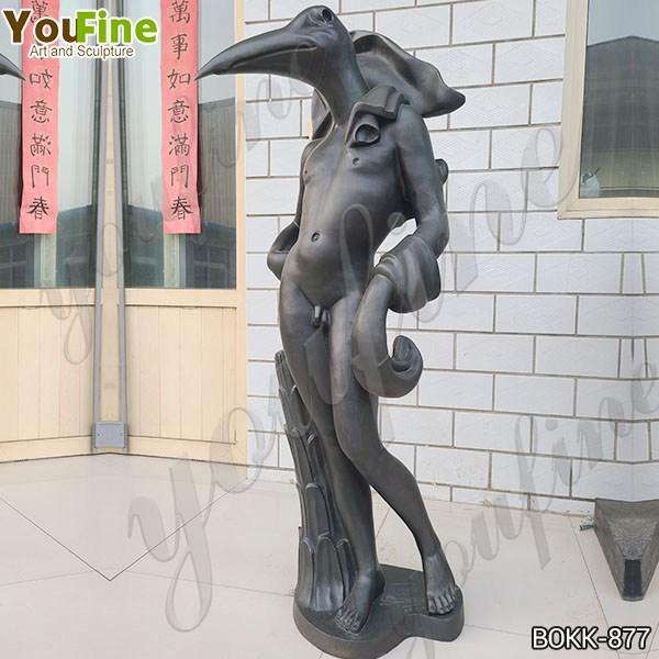 Famous Life Size Bronze Birdman Sculpture by Salvador Dali