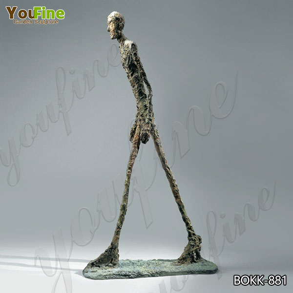 Abstract Giacometti's Bronze Walking Man Sculpture for Sale BOKK-881