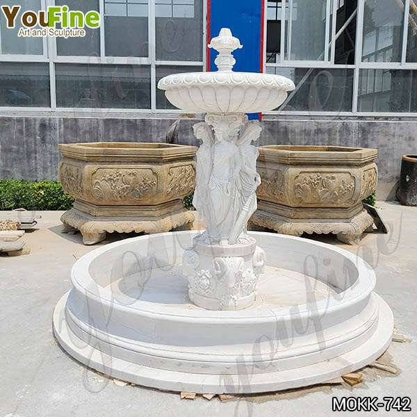 High Quality Marble Woman Water Fountain Manufacturer MOKK-742