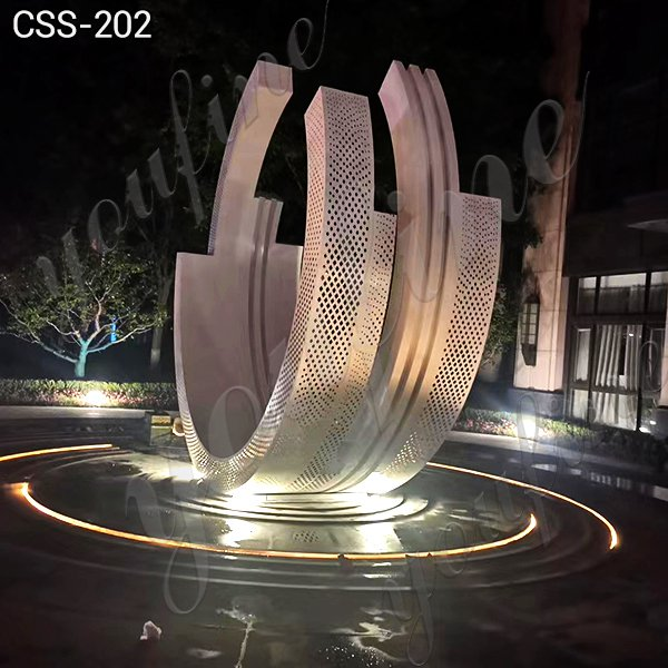 Large Modern Metal Stainless Steel Sculpture from Factory