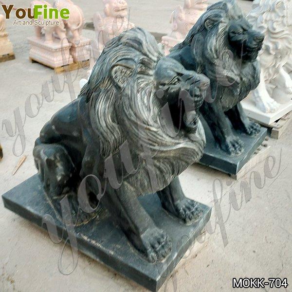 Life Size Antique Stone Lion Garden Statues