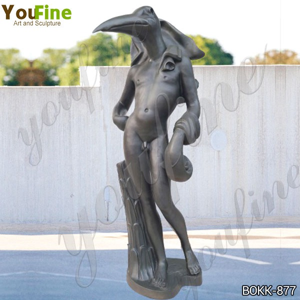 Life Size Bronze Birdman Sculpture by Salvador Dali on Sale