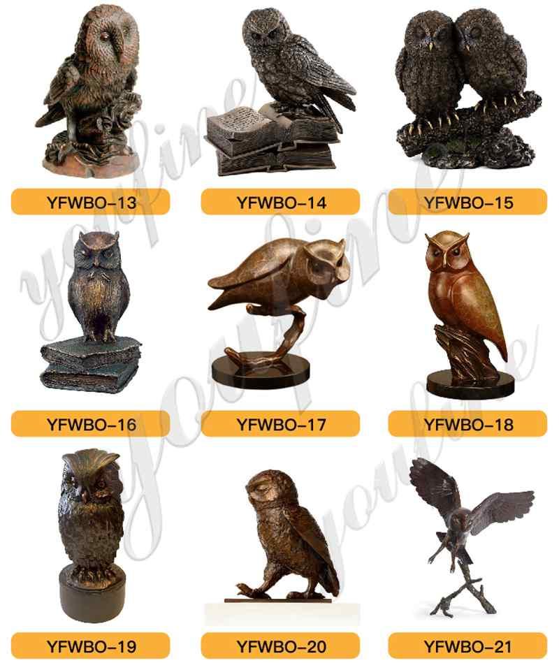 Life Size Cast Bronze Owl Statue