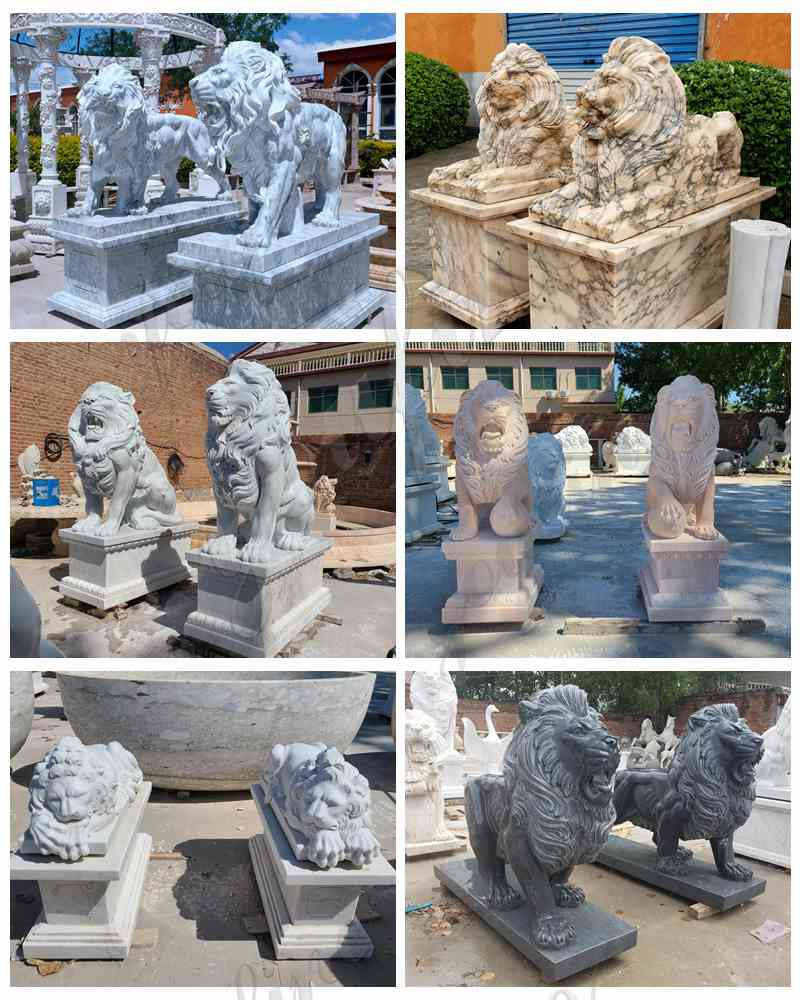Lion yard statue for sale