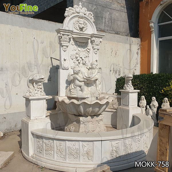 Luxury Style Marble Water Angel Wall Fountain for Sale MOKK-758