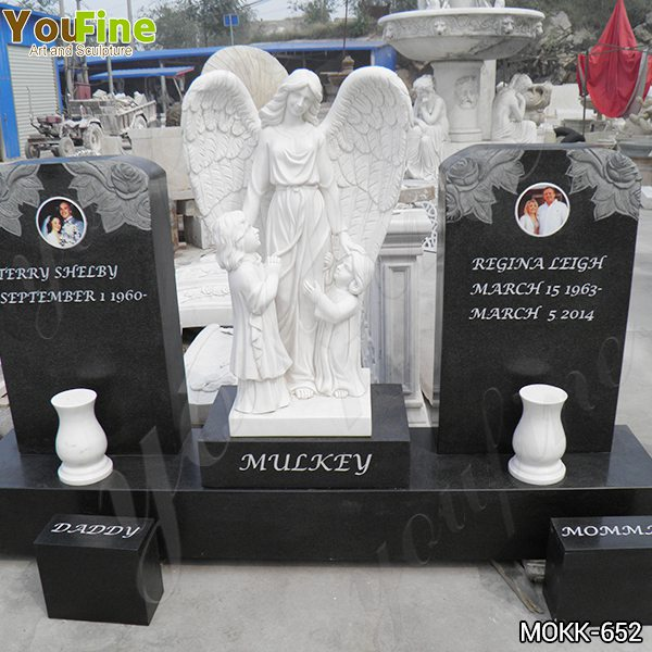 Marble Angel Memorials Headstones with Upright Granite Monument Suppliers MOKK-652