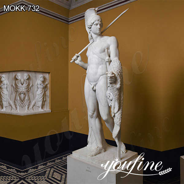 Famous Marble Jason with the Golden Fleece Statue by Bertel Thorvaldsen for Sale MOKK-732