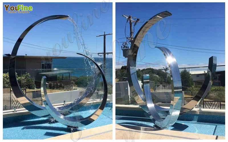 Metal Fountain Stainless Steel Sculpture