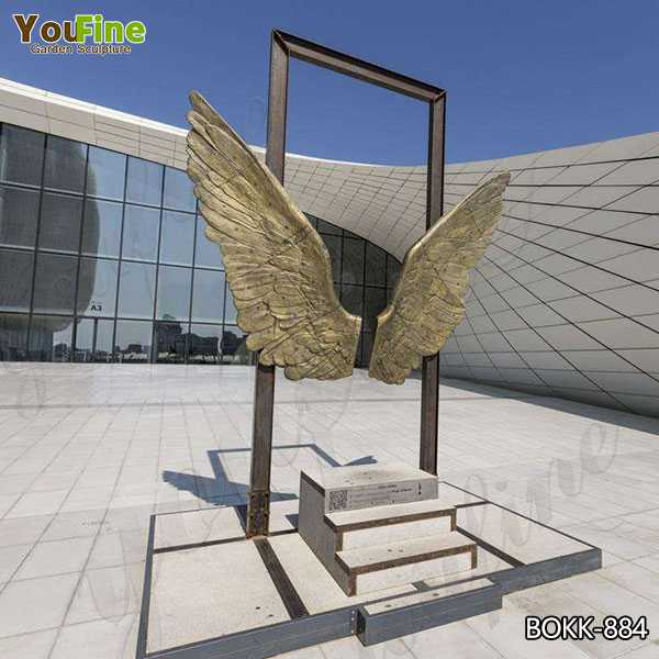 Modern Wings of Mexico Bronze Sculpture