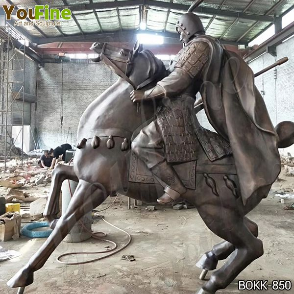 Outdoor Bronze Warrior Horse Statue