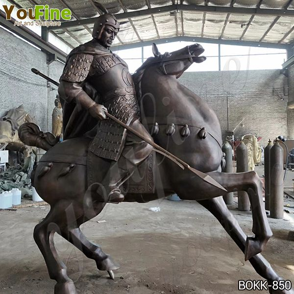 Outdoor Large Bronze Warrior Horse Statue for Sale BOKK-850