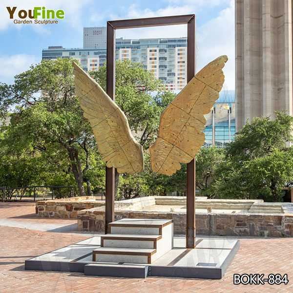 Outdoor Modern Wings of Mexico Bronze Sculpture for Sale BOKK-884
