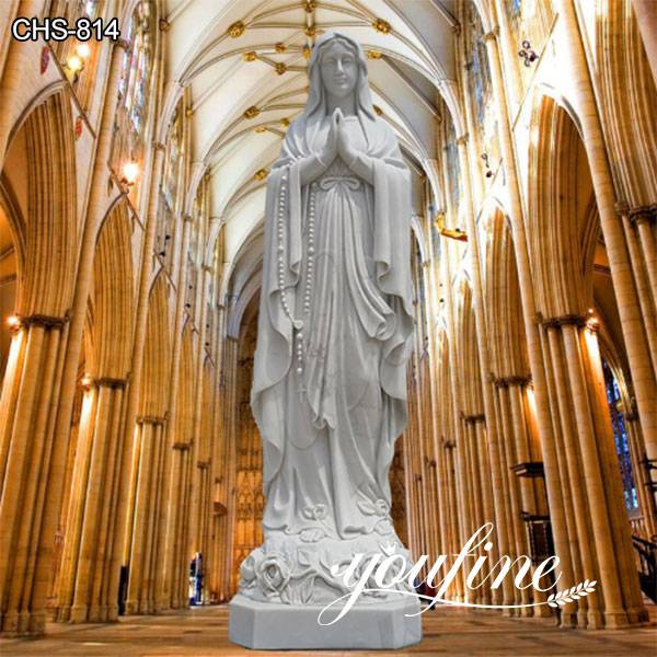 Catholic Outdoor White Marble Our Lady of Lourdes Statue Factory Direct CHS-814