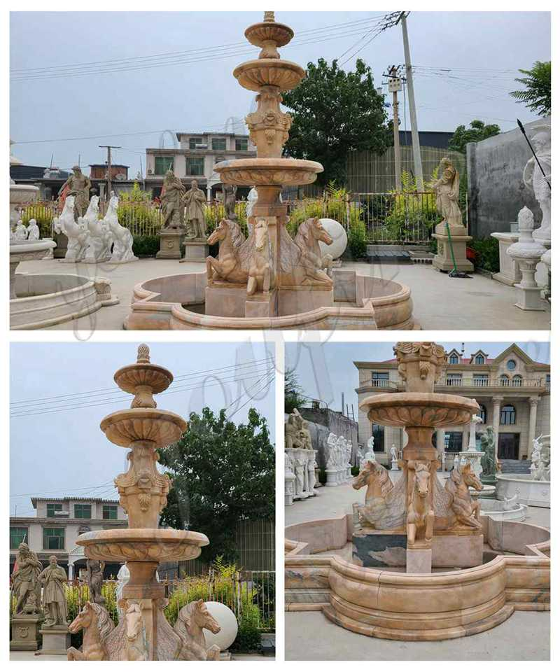 Tiered Marble Water Horse Fountains for sale