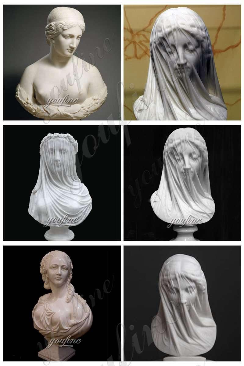 Veiled Lady Bust Sculpture