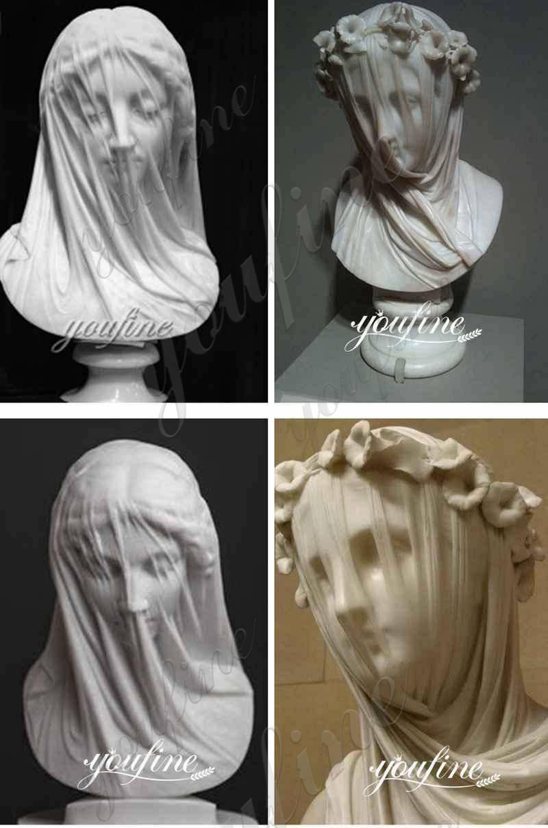 Veiled Vestal Virgin Marble Statue for Sale More Designs