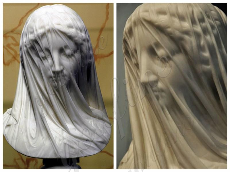 Veiled Virgin bust sculpture for sale