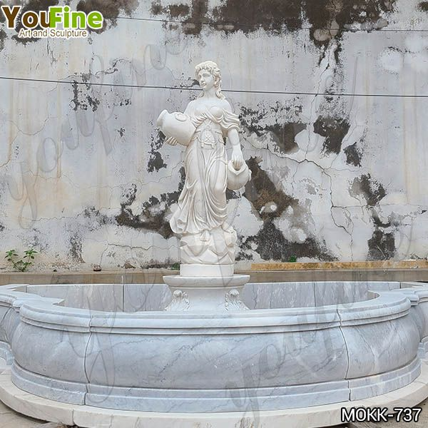 White Marble Water Maiden Fountain Factory Direct