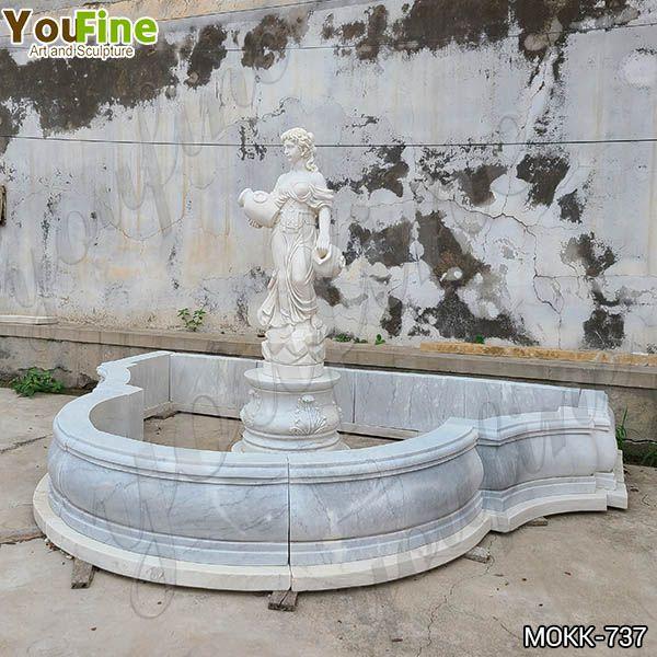 White Marble Water Maiden Fountain